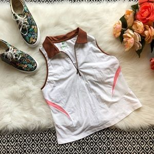 🌻 Tail Tech White Tennis Tank Pink Rust